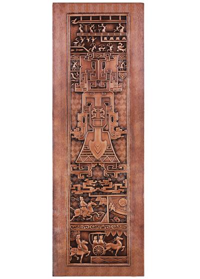 古希腊风单开铜门