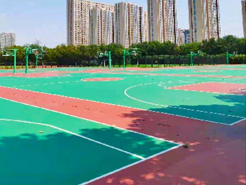 淄博实验学校GTPU篮球场