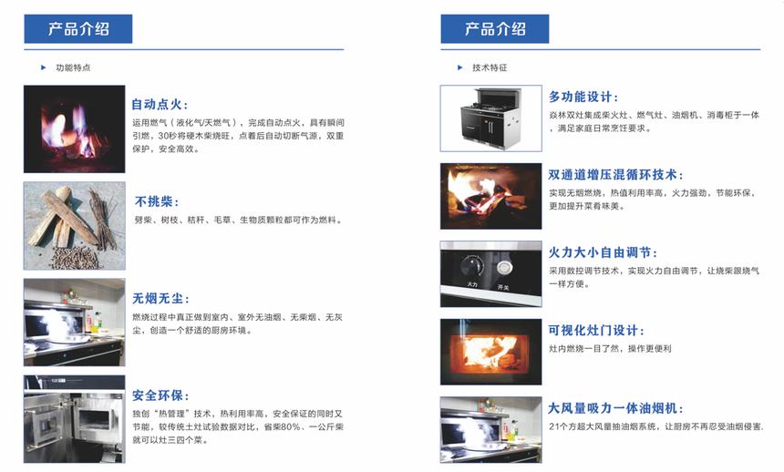 焱林柴火集成灶-产品功能