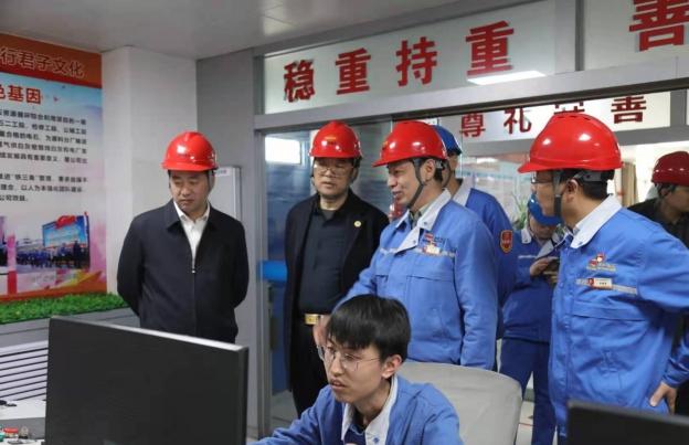 省應急管理廳總工程師董啟元一行蒞臨公司檢查指導安全生產工作