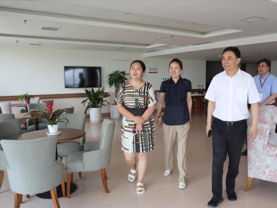 陕西省税务局党委委员、副局长郭章献 莅临白鹿溪谷国际颐养中心