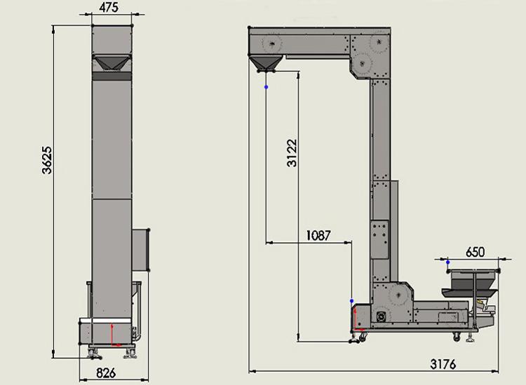 z字型提升机主要性能和结构特点