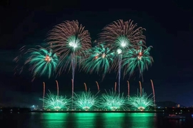 """""""壯麗七十年·共筑中國夢""""——安寧市大型焰火晚會慶祝新中國成立70周年"""