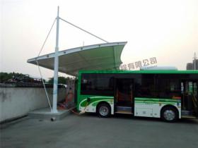 湖北武汉、黄石电动汽车、公交车充电桩雨棚安装完毕