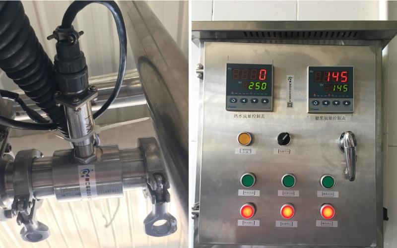 果冻厂液体定量配料自动化工艺设备现场.png