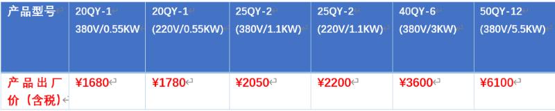 新出口型溶气泵产品国内特约促销价格表.png