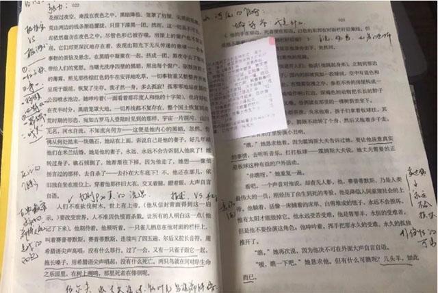张秋子用来讲网课的小说《达洛维夫人》批注.jpg