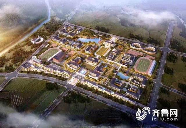 山东科技大学泰山科技学院新校区落户泰安山口镇