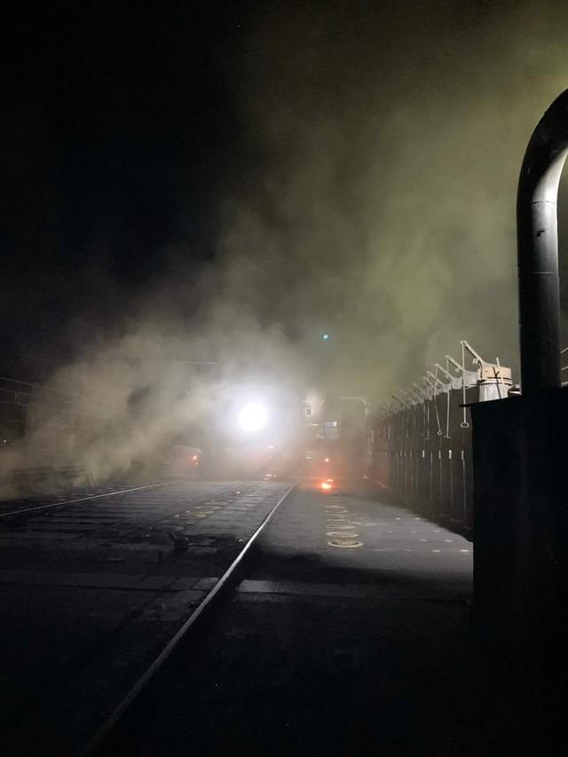 山西省聚源煤化有限公司有人检查了就不生产了,看看这夜晚