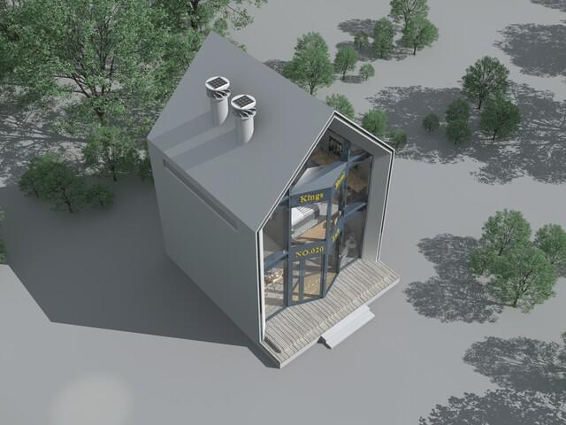 酒店设计,LOFT公寓式酒店,模块化房屋,当天即可完成组装,并且